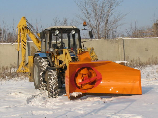 Купить Снегоочиститель плужнороторный ДМ-56 и другое навесное оборудование для спецтехники в ООО «Дортехника».