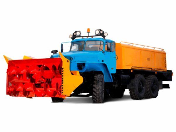 Купить Снегоочиститель шнеко-роторный 9531-03 на УРАЛ и другое навесное оборудование для спецтехники в ООО «Дортехника».