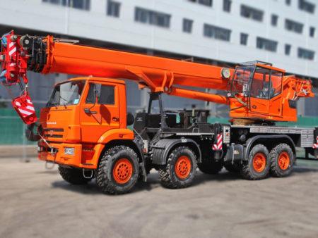 Купить Автомобильный кран КС-65719-3К КАМАЗ-63501 (8х8) и другую дорожную технику по низкой цене в ООО «Дортехника».