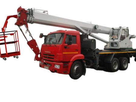 Купить Автокран КамАЗ КС-55732-28 6×6 и другую дорожную технику по низкой цене в ООО «Дортехника».