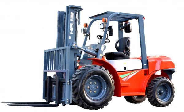 Купить Дизельный погрузчик повышенной проходимости HELI CPСD35 и другую дорожную технику по низкой цене в ООО «Дортехника».